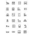Furniture Line Icons 3 vector image