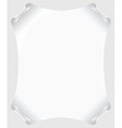 White scroll paper vector blank vector image