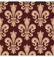 Brown and beige seamless fleur-de-lis pattern vector image