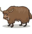 Cartoon yak vector image