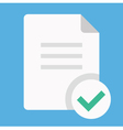 Document and Check Mark Icon vector image