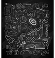 Modern Abstract background with hand drawn doodle vector image