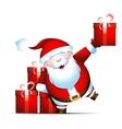 Santa Claus gives gifts vector image