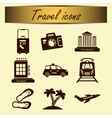 Set of travel icons for tourism business vector image