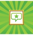 Star message picture icon vector image