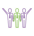 three men holding hands teamwork successful vector image