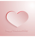 Pink love heart vector image vector image