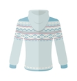 Warm Sweater with Ornaments Flat Design vector image