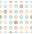 Vintage Dots Circles Seamless Pattern vector image