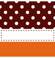 Thanksgiving retro frame with polka dots vector image vector image