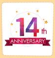colorful polygonal anniversary logo vector image vector image