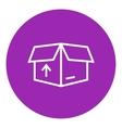 Carton package box line icon vector image vector image