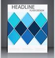 abstract digital business brochure flyer vector image