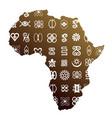 african ethnic symbols vector image