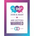 Bright Creative Wedding Card Design vector image