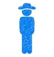 Gentleman Standing Grainy Texture Icon vector image