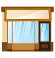 shop design with banner on top vector image