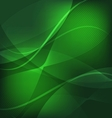 Abstract green wave line background vector image