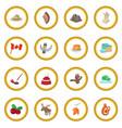 canada icon circle vector image
