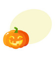 Laughing happy pumpkin jack-o-lantern with funny vector image