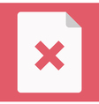 Document and Cross Icon vector image vector image