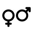 Male and female sign Gender symbol vector image