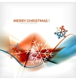 Orange Christmas blurred waves and snowflakes vector image vector image