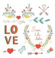 Beautiful love set vector image vector image
