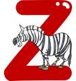 Z for zebra vector image