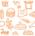 art of food style doodles vector image