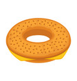 bread bun donut or cheese bagel icon for vector image