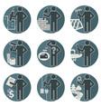 House Remodel Service Worker Set vector image