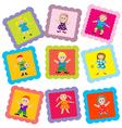 Kid stamps vector image