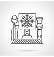 Line icon steering wheel vector image