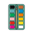 palette of colors cartoon icon isolated on a white vector image