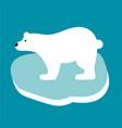 polar bear in flat style vector image