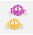 realistic design element poker vector image