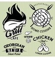 Set meat products for barbecue party vector image