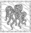Stylized octopus vector image