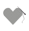 Thread and needle icon vector image