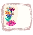 background with watercolor flowers vector image