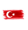 abstract grunge turkey flag vector image vector image