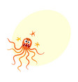 ugly virus germ bacteria character with human vector image