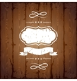Wooden texture background with chalk labels and vector image