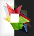 Abstract composition 3d geometric shapes vector image vector image