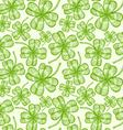 clover pattern vintage vector image vector image