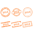 2016 stamps vector image vector image