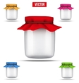Glass Jar for home canning vector image