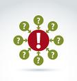 Round consultation symbol call center icon vector image