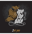 Save The Date Wedding Invitation Card vector image
